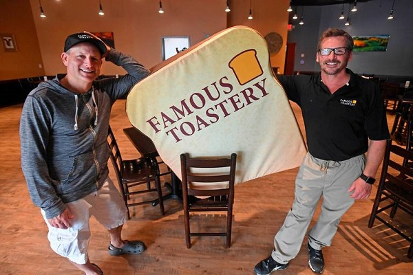 Owners of Famous Toastery: Brian Burchill and Robert Mayrand