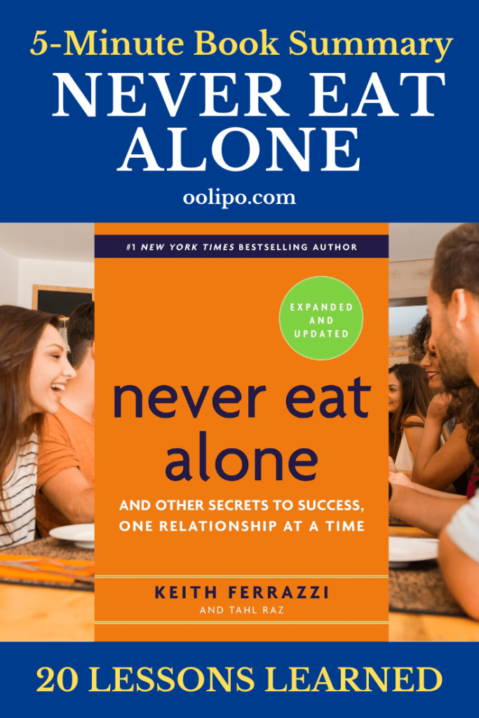 Never Eat Alone Book Summary Pinterest