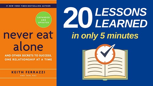 Never Eat Alone Summary: 20 Lessons Learned and PDF Download