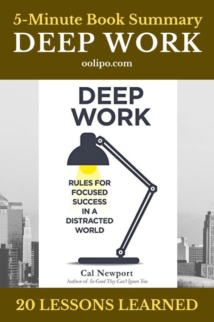 Deep Work Quick Summary Pinterest pin