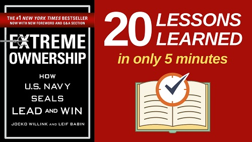 Extreme Ownership Summary (5 Minutes): 20 Lessons Learned & PDF file