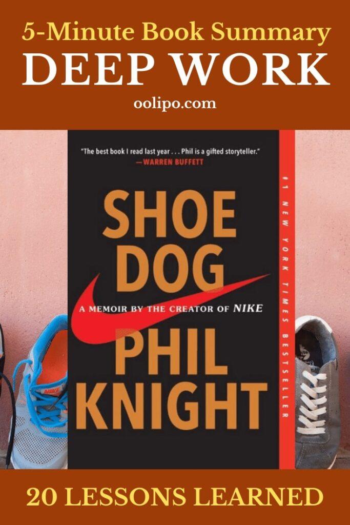 Shoe Dog Summary for Pinterest