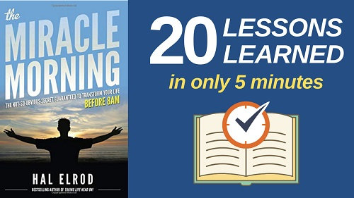The Miracle Morning Summary PDF with 20 lessons learned