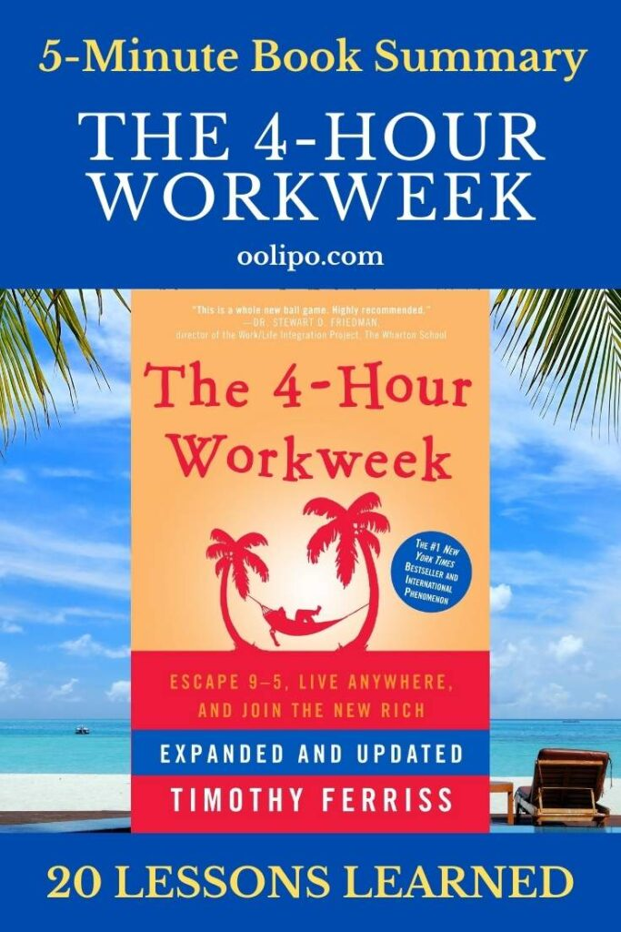 The 4-Hour Workweek Summary with PDF for Pinterest