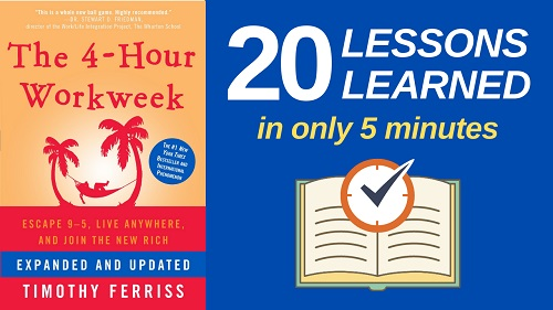 The 4-Hour Workweek Summary (5 Minutes): 20 Lessons Learned & PDF