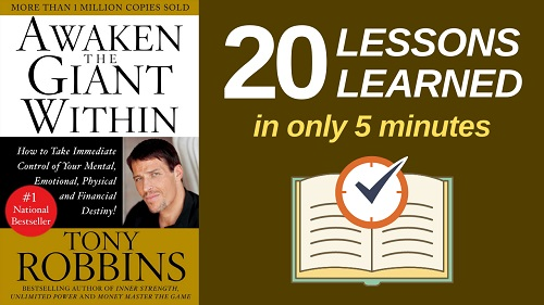 Awaken the Giant Within Summary (5 Minutes): 20 Lessons Learned & PDF