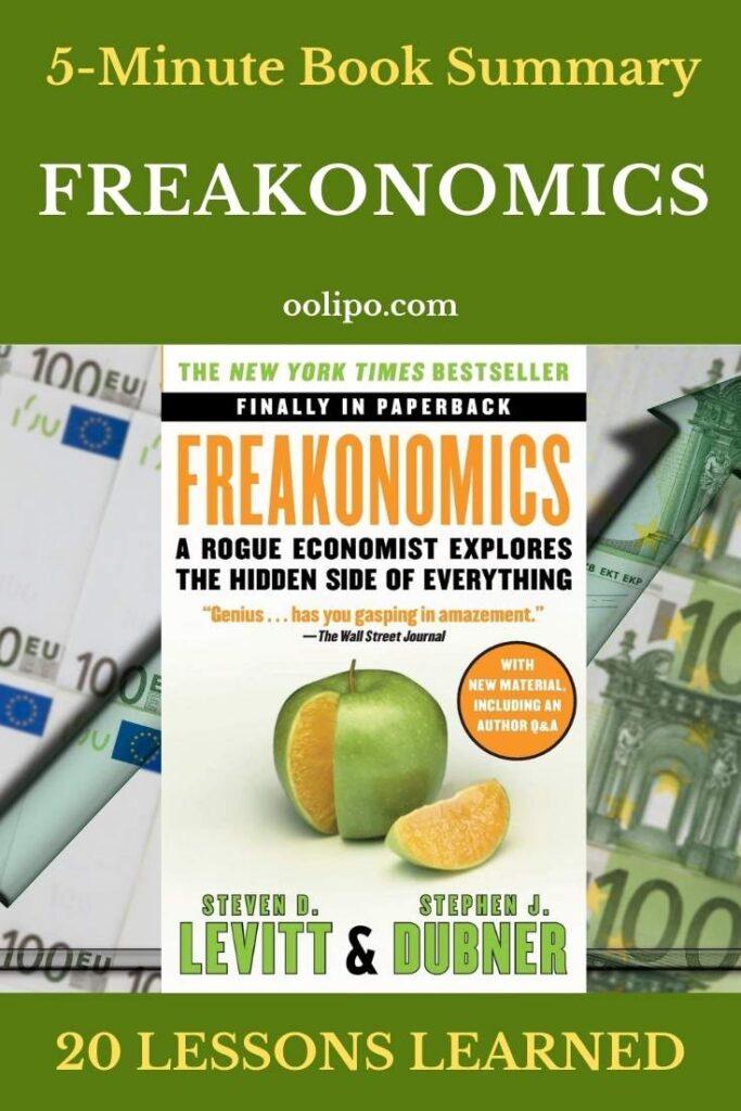 Freakonomics Book Summary for Pinterest