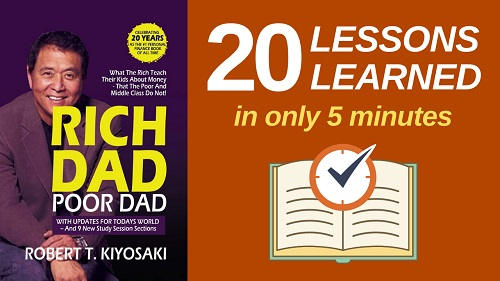 Rich Dad Poor Dad Summary (5 Minutes): 20 Lessons Learned & PDF file