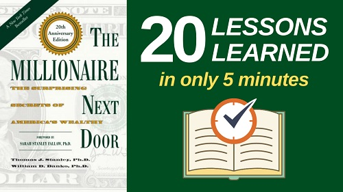 The Millionaire Next Door Summary (5 Minutes): 20 Lessons Learned & PDF file