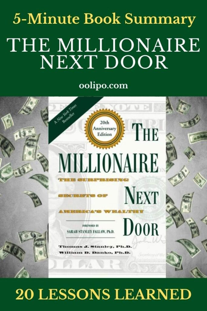 The Millionaire Next Door for Pinterest