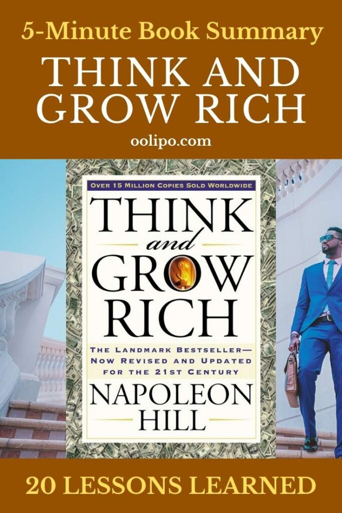 Think and Grow Rich Summary (5 Minutes): 20 Lessons Learned & PDF file