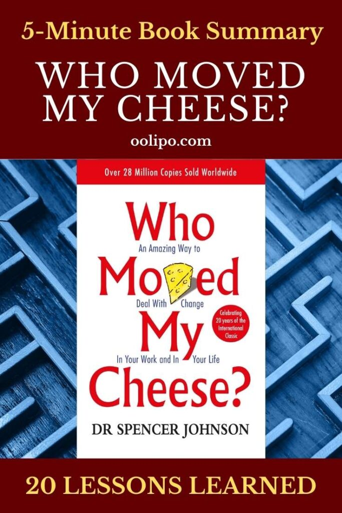 Who Moved My Cheese Summary and PDF for Pinterest