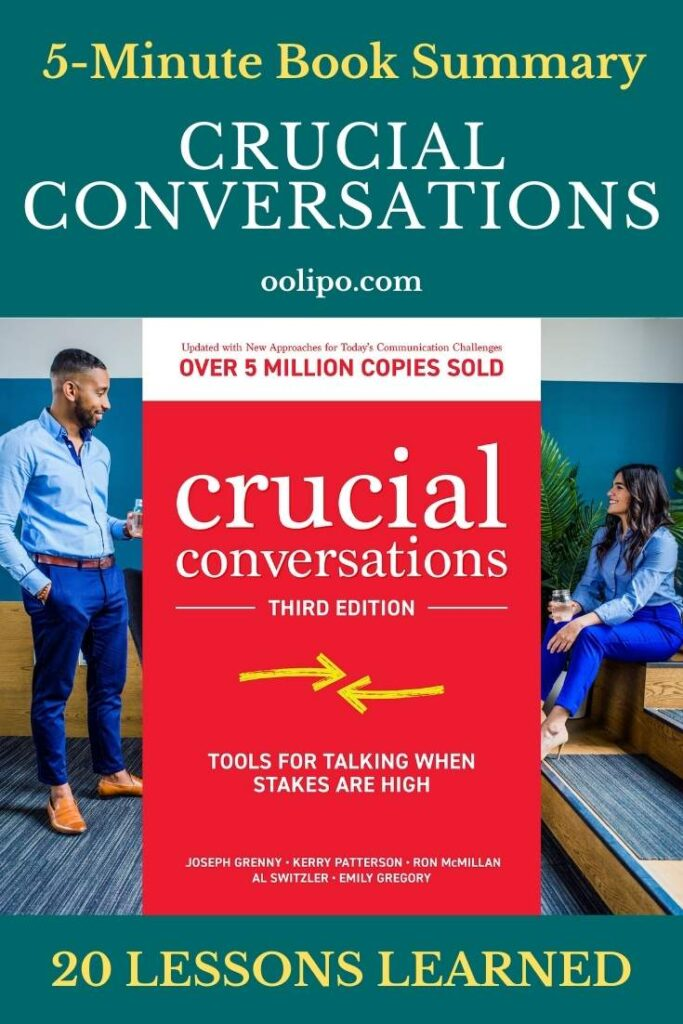 Crucial Conversations Summary with PDF for Pinterest