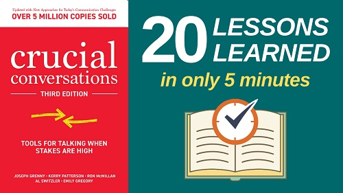 Crucial Conversations Summary (5 Minutes): 20 Lessons Learned & PDF