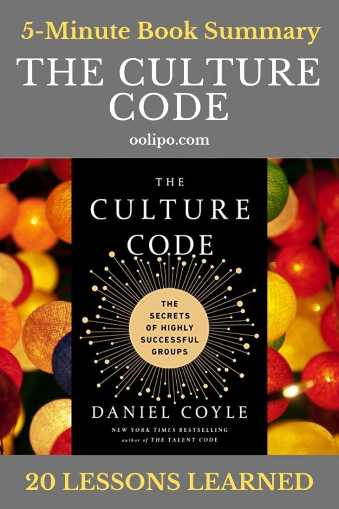 The Culture Code Summary with PDF for Pinterest