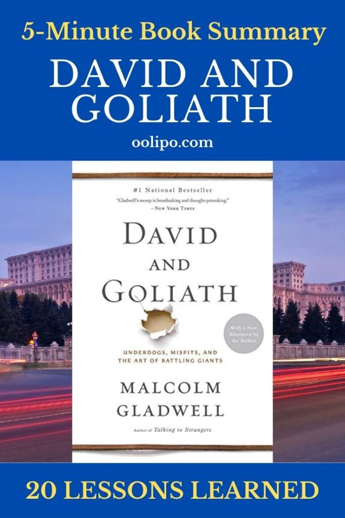 David and Goliath Summary with PDF for Pinterest