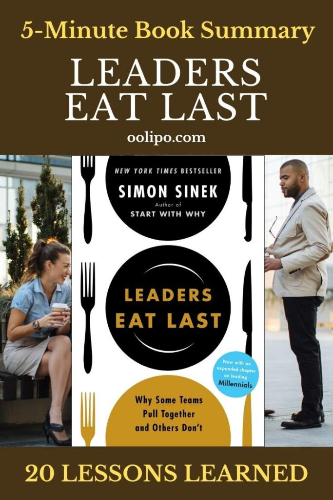 Leaders Eat Last Summary with PDF for Pinterest