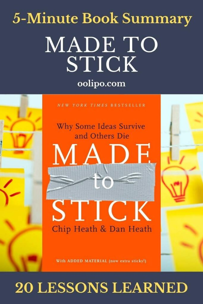 Made to Stick Summary with PDF file for Pinterest