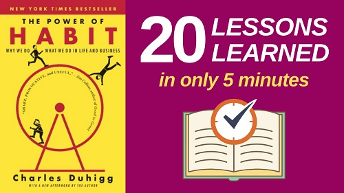 The Power of Habit Summary (5 Minutes): 20 Lessons Learned & PDF file
