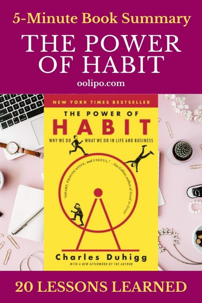 The Power of Habit Summary with PDF for Pinterest