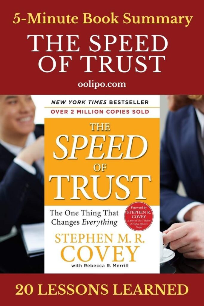 The Speed of Trust Summary with PDF for Pinterest