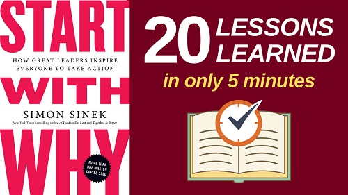 Start With Why Summary (5 Minutes): 20 Lessons Learned & PDF