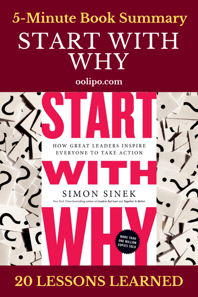 Start With Why Summary with PDF for Pinterest