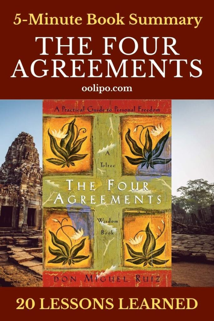 The Four Agreements Summary with PDF for Pinterest