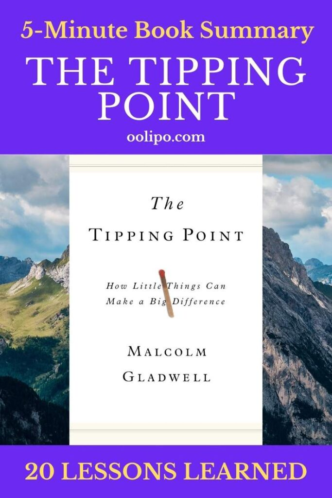 The Tipping Point Summary with PDF for Pinterest