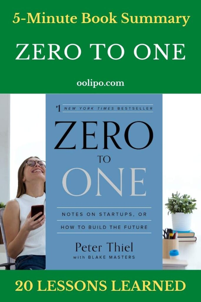 Zero to One Summary with PDF for Pinterest